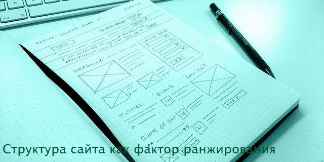 Структура сайта как фактор ранжирования его страниц