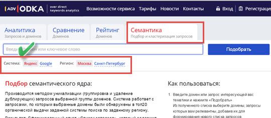 Изображение - Подобрать ключевые слова advodka
