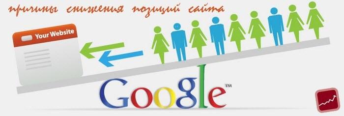 Выясняем причины снижения позиций сайта в Google