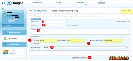 seobudget.ru для анализа релевантности