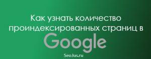 узнать количество проиндексированных страниц в Гугле